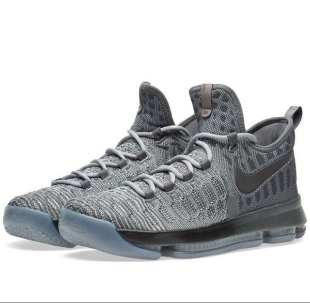 674dfd5d9888 Nike Zoom KD 9 Fairmount Cool Grey Wolf Black Basketball Shoes 843392-002  Sz 8