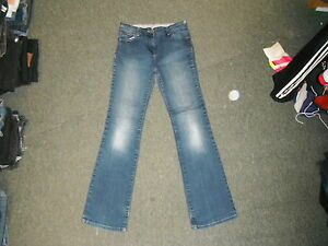 Marks-amp-Spencer-Bootcut-Jeans-Size-10-Leg-30-034-Faded-Dark-Blue-Ladies-Jeans