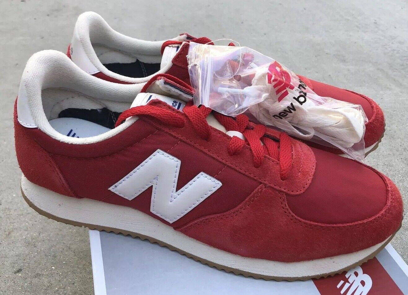 New Balance U220RD Red White Sz 10.5 NIB