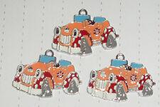 Kawaii Kitsch Noddy Car Enamel Charm pendants x 5 lot Kitsch