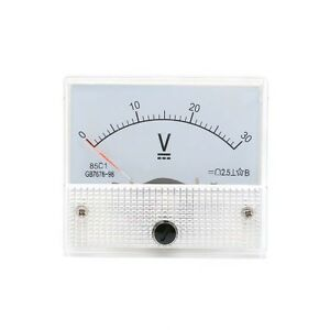 New! 0-30V DC Voltmeter 85C1 Analog Voltage Panel Meter Volt Table 65*56mm