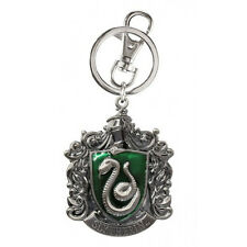 Harry Potter House of Slytherin Crest Logo Colored Pewter Keyring Keychain NEW