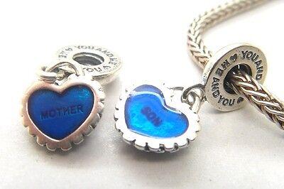 MOTHER & SON 925 Sterling Silver Solid Dangle Charm for Bracelet