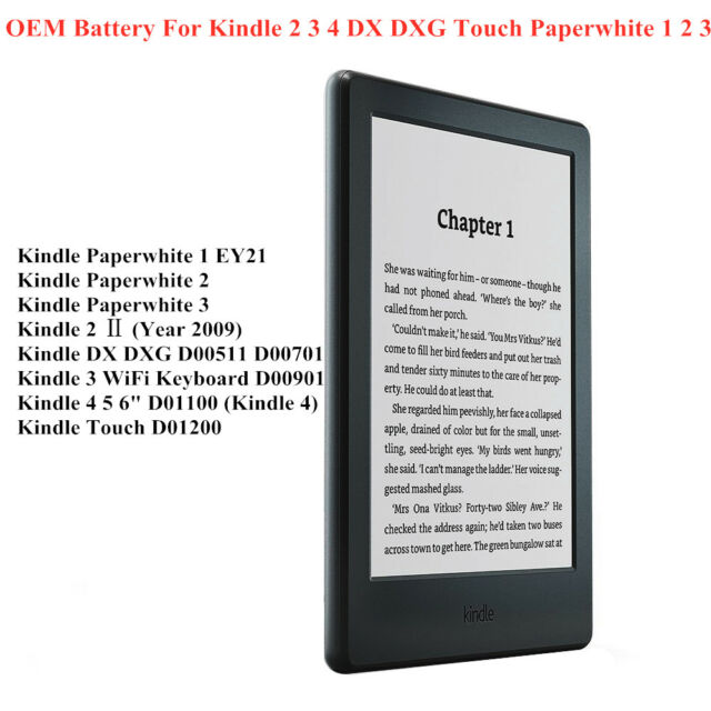 OEM Battery For Amazon Kindle 2 3 4 5 Touch DX DXG Paperwhite 1 2 3 e-book
