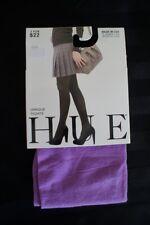 Hue Opaque Tights Sz 1 Dark Orchid Purple Non Control top Nylon Tights DD1012