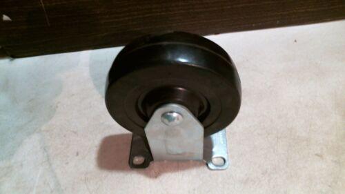 Shepherd Hardware 9659 4-Inch Rigid Plate Caster FREE SHIPPING Rubber Wheel