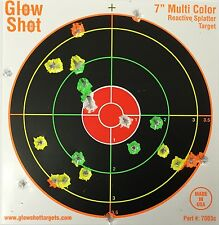 "Range Targets Reactive Splatter 100-Pack 7"" Glow Shot Multi-Color Gun Airsoft"
