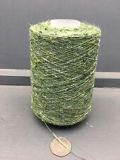 200G 1/15NM JASPE TUSSAH SILK YARN GREEN / WHITE 53822