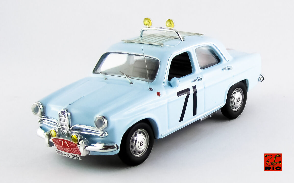 Alfa Romeo  Giulietta Ti  71 Radio Monte voiturelo 1960 Loffler   Johansson 1 43 RIO  à bon marché