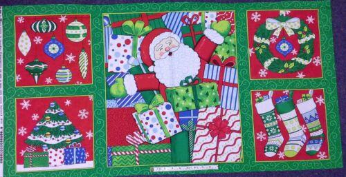 Fabric Christmas Panels,HO HO HO for Moda Fabrics100/%cotton red or green