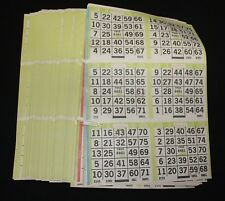 BINGO PAPER Cards Kit  6 on 5 up starburst Lime rotation 50 packs FREE SHIPPING