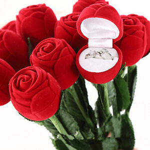 Wholesale Rose Jewelry Box Wedding Engagement Ring Valentine Gift