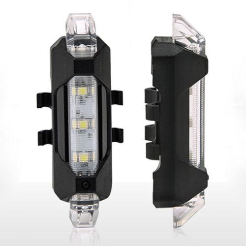 Hot 5 LED Rücklicht USB-Ladung Fahrradleuchte Safety Light Lampe Outdoor Safe