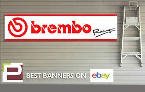 Brembo Racing Garage Banner PVC Sign, Brembo Brakes, Brake Pads, Brake Discs