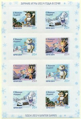 RUSSIA 2013 Minisheet New Year Mascots of Olympic and Paralympic Games Sochi MNH