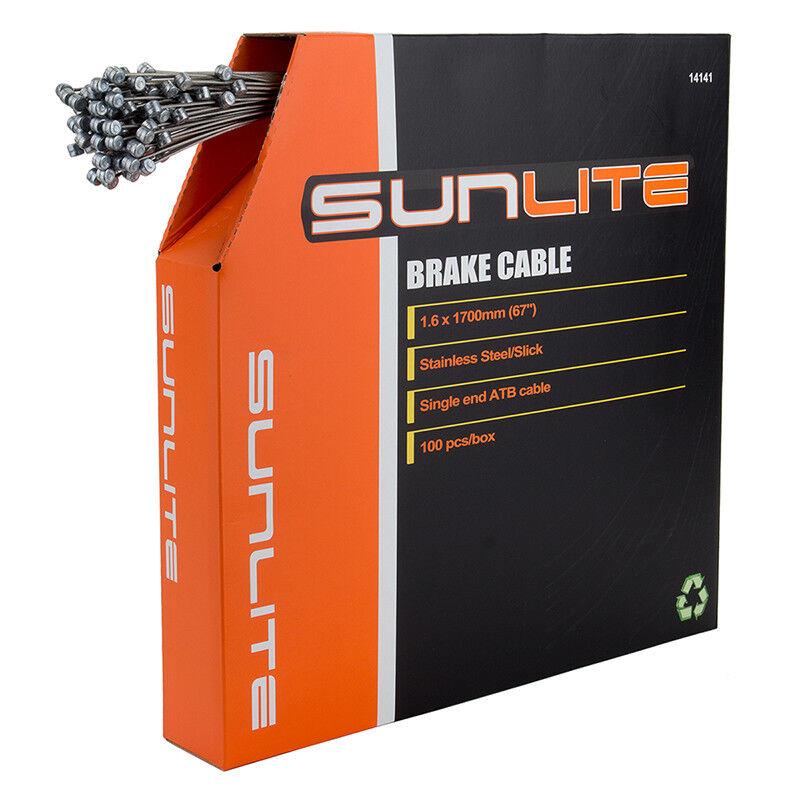 Sunlite Cables de Freno Cable Freno Sunlt 1.6x1700ss SLK Atb Bxof100