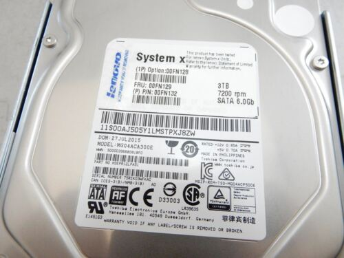 "Lenovo 00FN128 3TB 7200 RPM SATA 6.0Gb//s 3.5/"" Hard Drive HDD ZZ 7.2K"