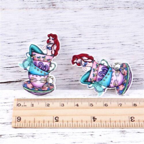5 qty Planar Resin Flatback Hair Bow Center 1068013 Ariel The Little Mermaid