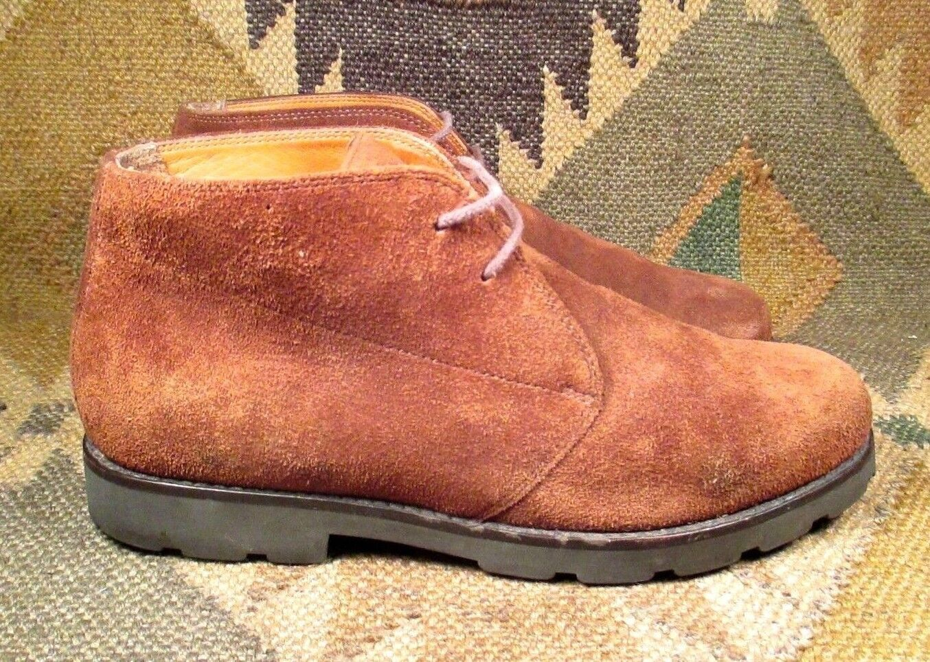 Ralph Lauren  Brown Suede Leather Desert Chukka Ankle Boots size USA-8 B