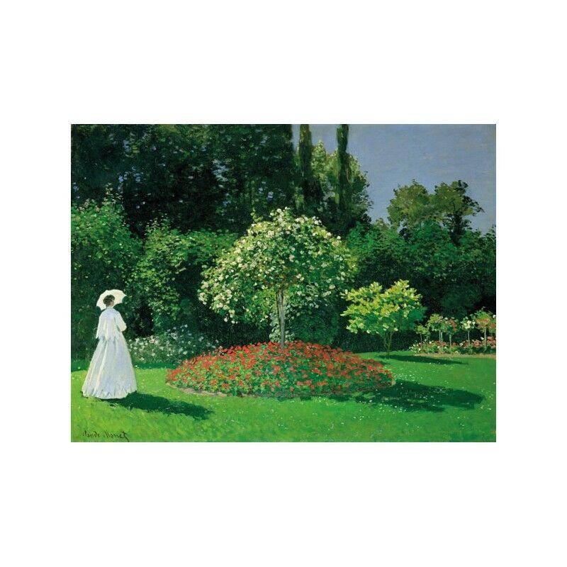 Quadro su Pannello in in in Legno MDF Claude Monet Young Woman in a Garden 2372b9
