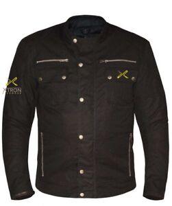 Xtron-Moto-Impermeable-Renfort-Ce-Coton-Cire-Fermeture-Eclair-Veste-Manteau