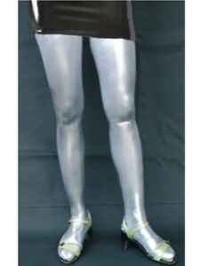 SILVER-shiny-stretch-hold-up-STOCKINGS-AP-41-SIL-FREE-UK-DELIVERY