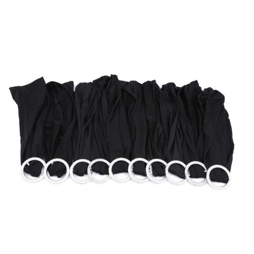 Stretch Spandex Chair Sash Wedding Party Decor Cover Band Buckle Bow S