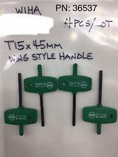 Box of 10 Wiha 36512 T7 x 50 Torx Wing Style Handle