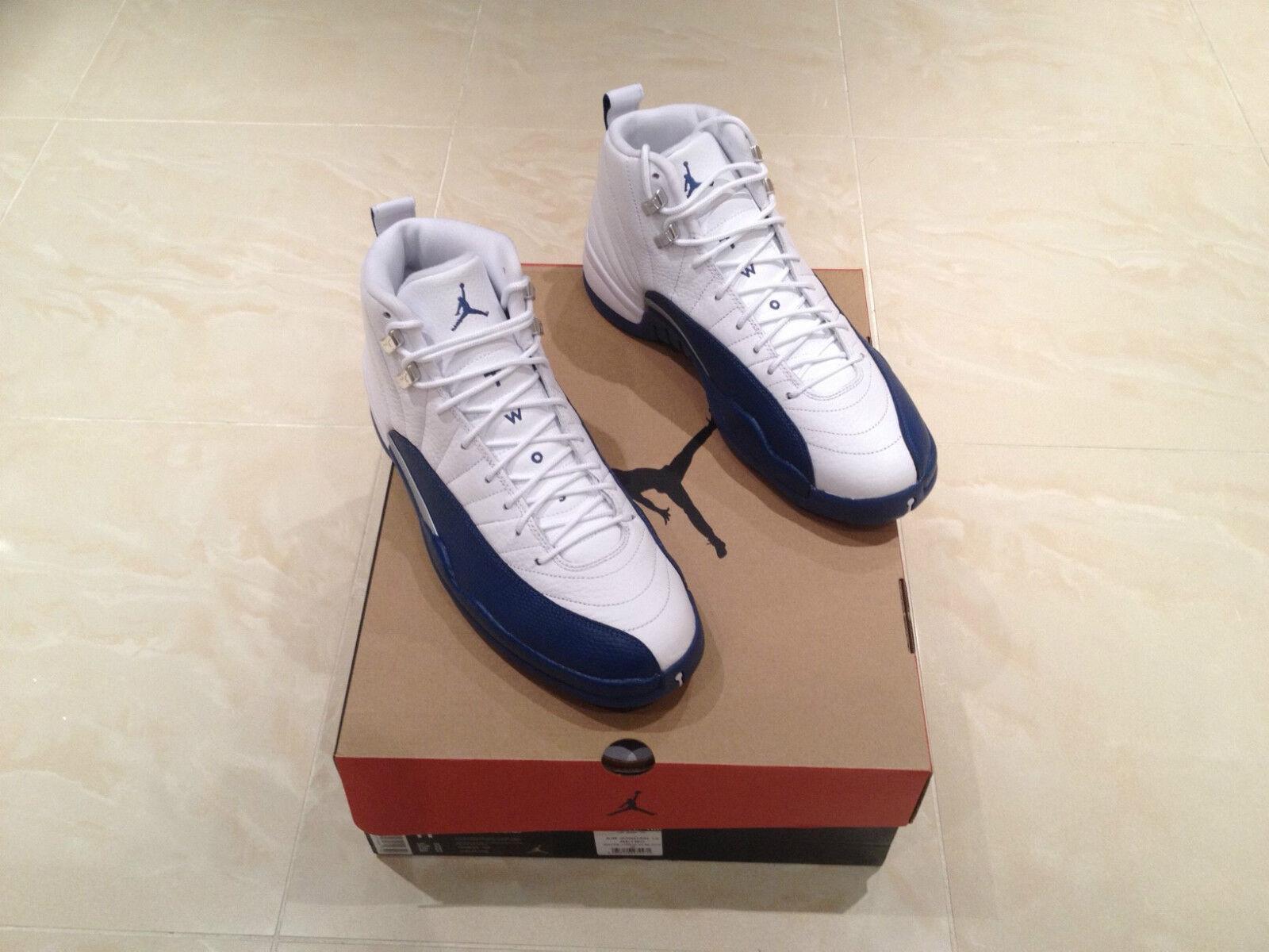 2016 Nike Air Jordan 12 12 12 XII Francese Blu Retro Tutte le Taglie 6-9 NUOVO 6 7 8 9 9033de