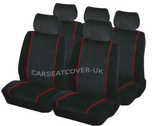 Luxury BLK//RED Car Seat Covers Protectors Full Set Hyundai I30