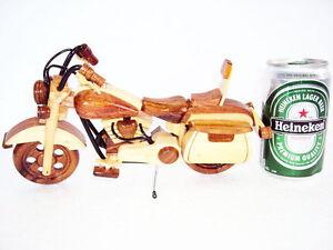 Mini-Handmade-Wood-Art-Model-Motorcycle-HARLEY-DAVIDSON-Handmade-wooden-Gift