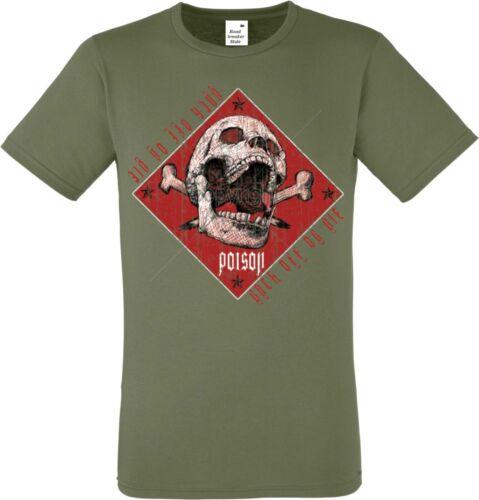 T shirt en olivton con un tatuaje//gothikmotiv modelo Skull Poison