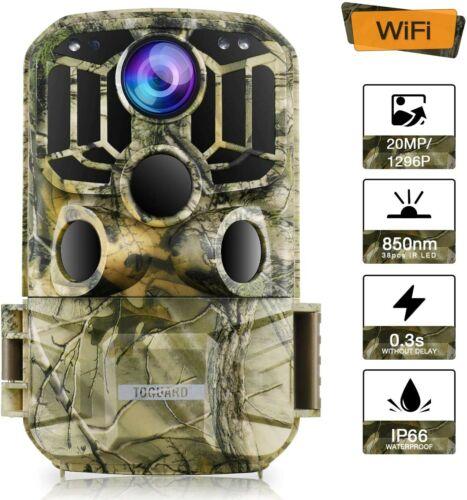 Wifi cámara de Vida Silvestre toguard Cámara Trail 20MP 1296P Camara caza con 120 °...