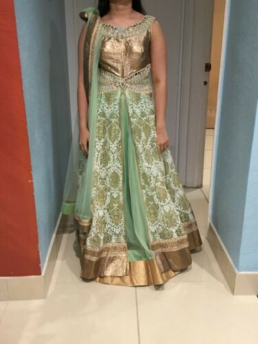 Two Piece LONG Top Indian Outfit  Hand Embroidery