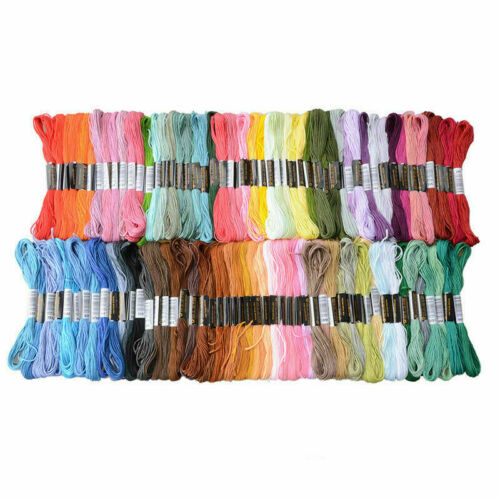 Lot 100 Multi Colorful Cross Stitch Floss Cotton Thread Embroidery Sewing Skeins