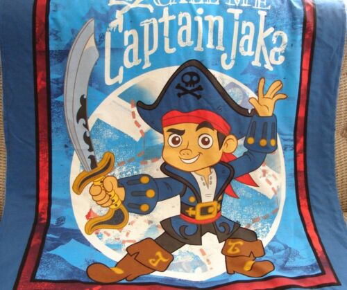 Call Me Captain Jake Cotton Top Blue Minkee Cot Blanket Handmade
