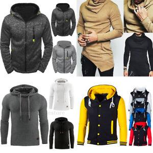 New-Men-039-s-Winter-Slim-Hoodie-Warm-Hooded-Sweatshirt-Coat-Jacket-Outwear-Sweater