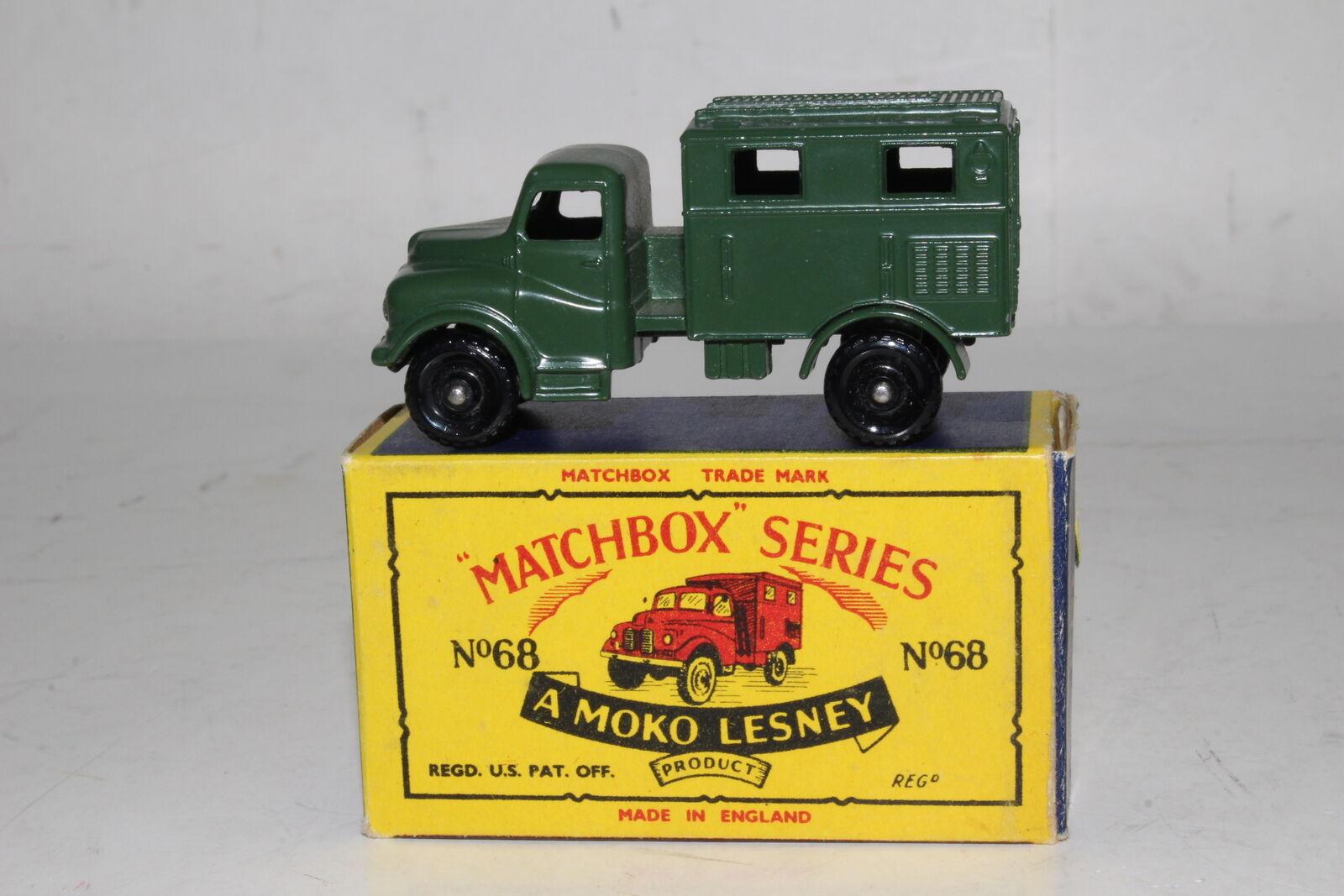 servicio considerado Matchbox Lesney  68A Radio Militar de Austin Austin Austin Camión, Excelente, En Caja de tipo B  tiendas minoristas