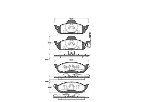 Bremsbeläge Bremsbelagsatz Bremsklötze vorne für Mercedes M-Klasse ML W163