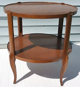 VTG-Bodart-French-Country-Provincial-2-Tier-Side-End-Lamp-Wood-Occasional-Table