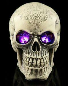 Crâne, Tête de Mort à Leds Clignotants, Halloween, Gothique. Punk
