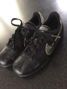 best sell new product another chance Details zu Nike Leder Sneaker 32 Schwarz Silber Turnschuhe Schuhe Kinder  Sportschuhe *N