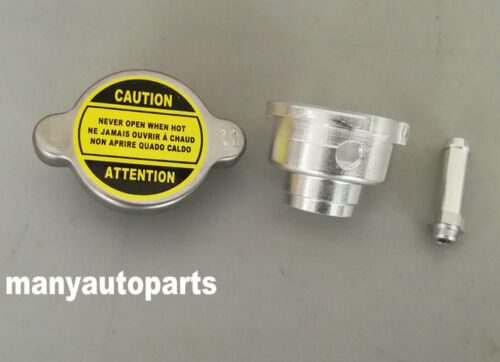 NEW WELD ON ALL ALUMINUM RADIATOR FILLER NECK /& 1.1 BAR RADIATOR CAP