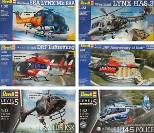 Revell-1-32-Aircraft-Helicopter-Military-Civilian-New-Plastic-Model-Kit-1-32