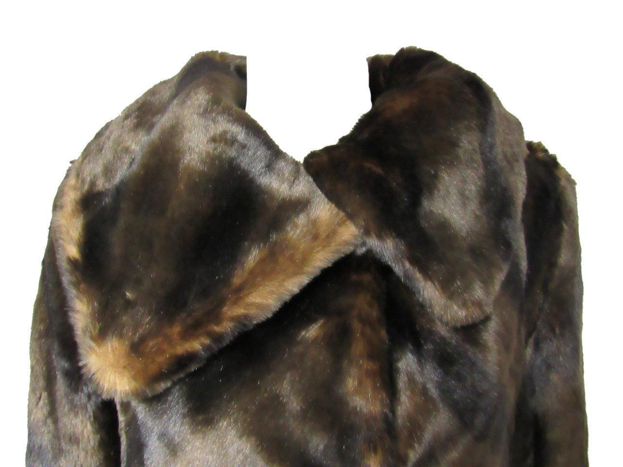 Jones New York Womens Size Small Faux Faux Faux Fur (Sable) Coat MSRP   300.00 A1 1161 9a4c80