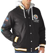 G-III NFL Pittsburgh Steelers Super Bowl Commemorative Varsity Jacket Hoody