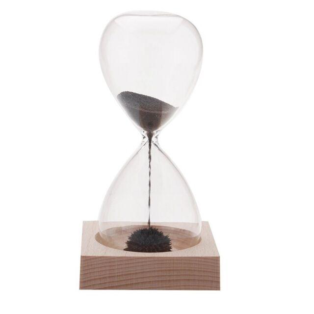 1pcs Iman de reloj de arena Awaglass soplado a mano Reloj Escritorio Decora S4D1