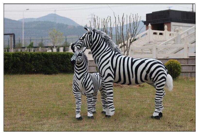 2018 Giant Hung Big Lifelike Zebra Simulation Soft Toy Doll Plush Stuffed Animal