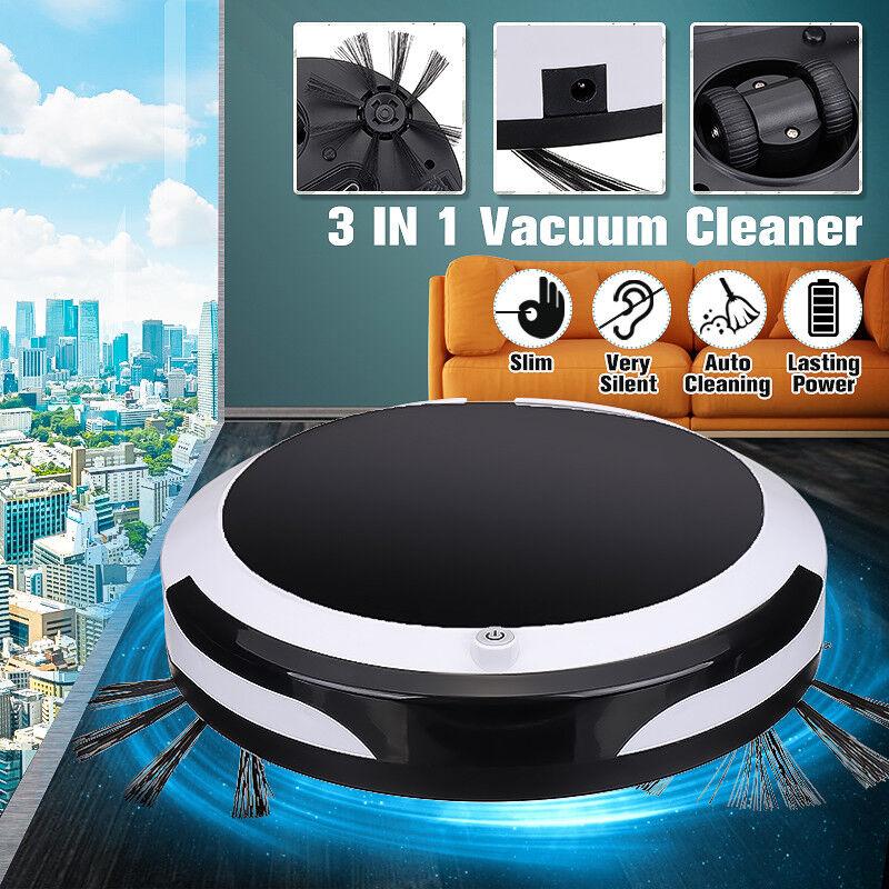 Auto Rechargeable Smart Robot Vacuum Cleaner Floor 3in1 Dry Wet Sweeping Mop US