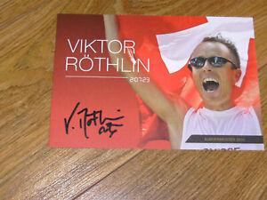 Autogrammkarte, - Sport, - Triathlon,- Viktor Röthlin
